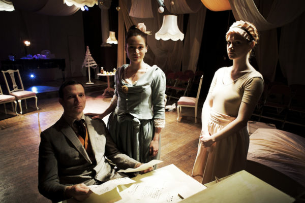 Dominik Golding, Gina Abolins & Hannah Dean in 'A Doll's House', The Space 2010